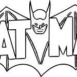New Batman Logo Coloring Page