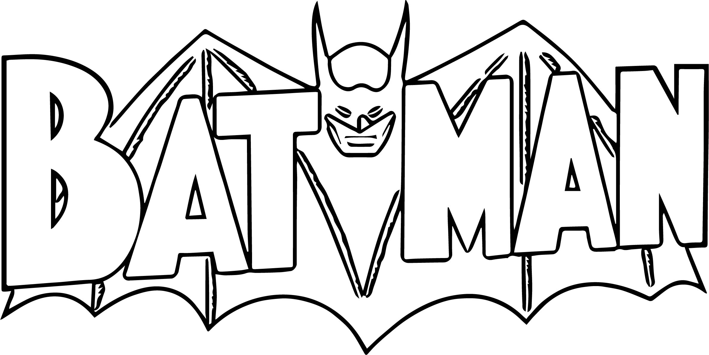 New batman logo coloring page for Batman coloring page