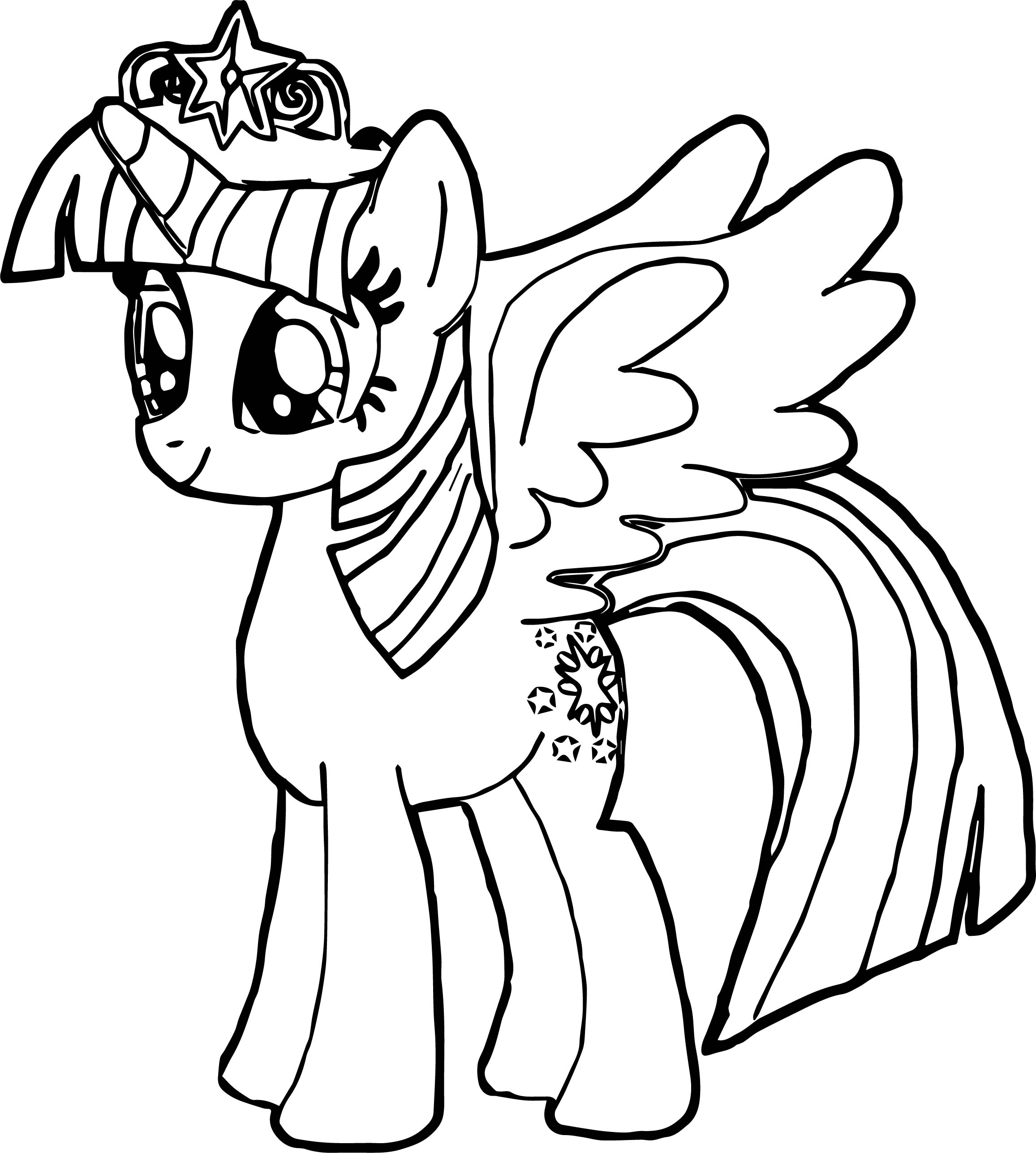 New Princess Twilight Sparkle Coloring Page | Wecoloringpage.com
