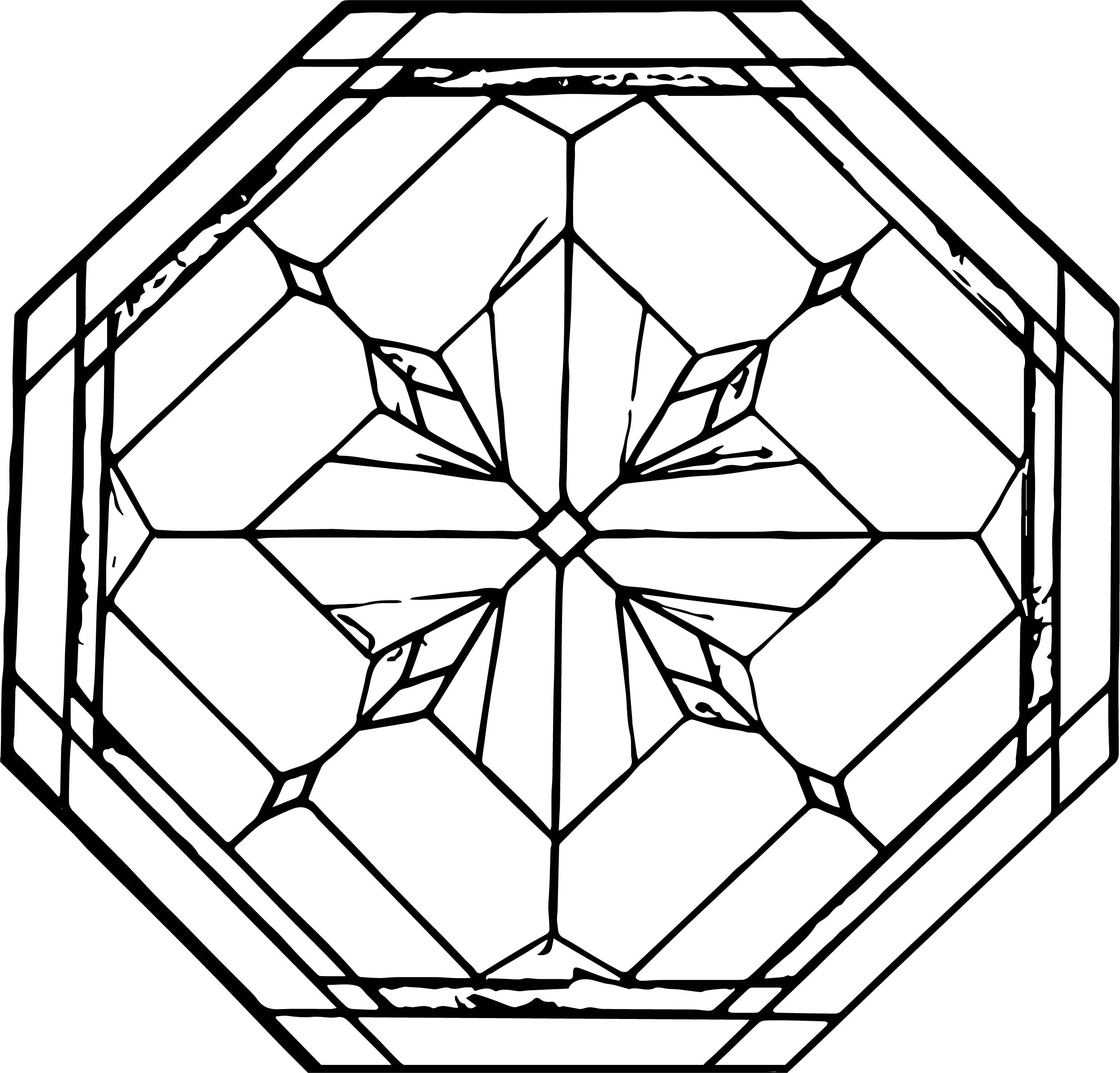 Octagonal Stained Coloring Page