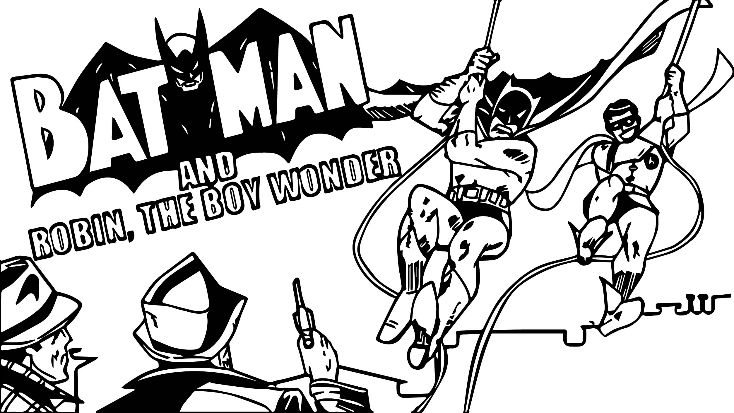 Oh Looky I Maed A Batman Cartoon Coloring Page