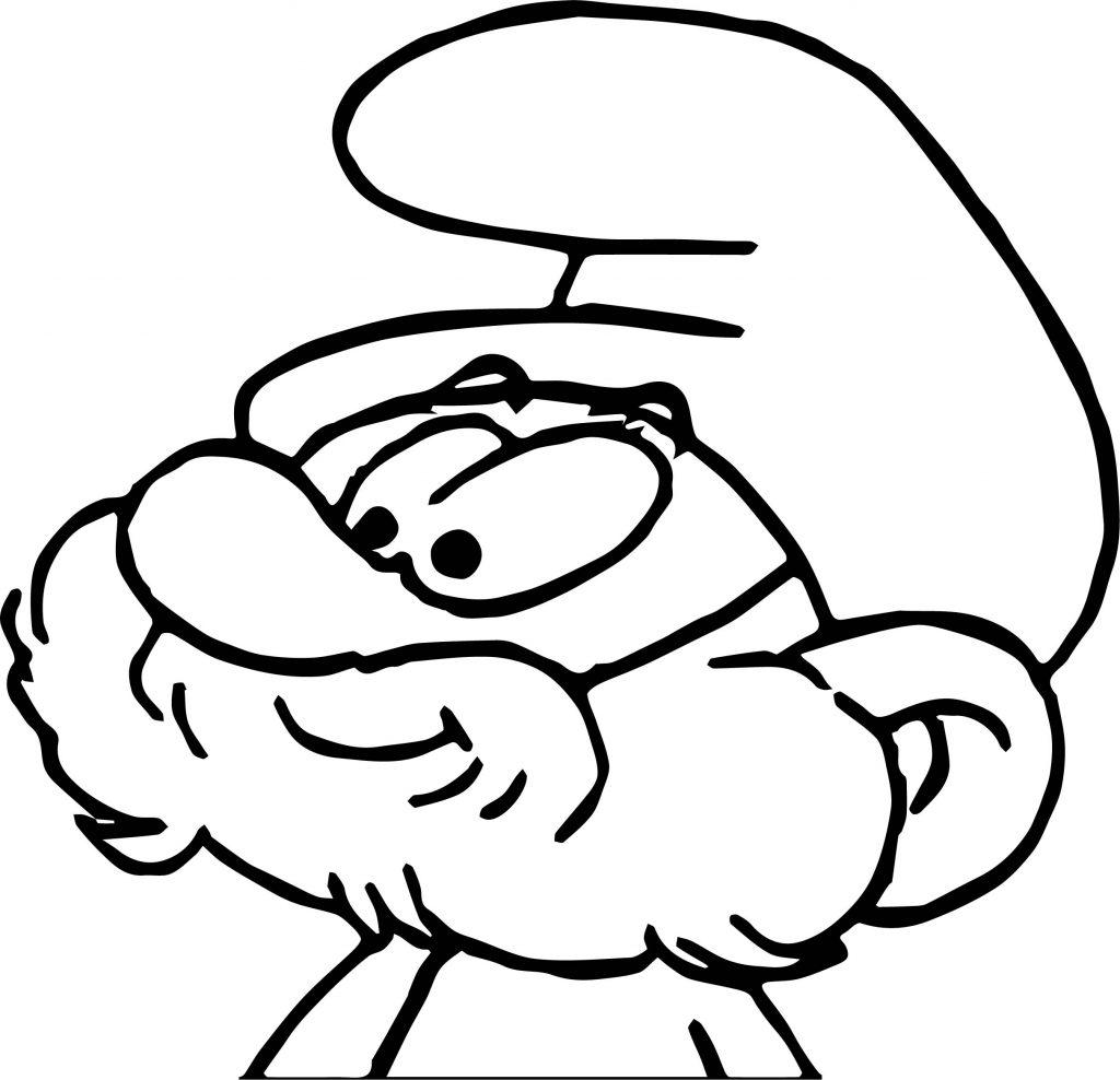 Papa Big Smurf Coloring Page | Wecoloringpage
