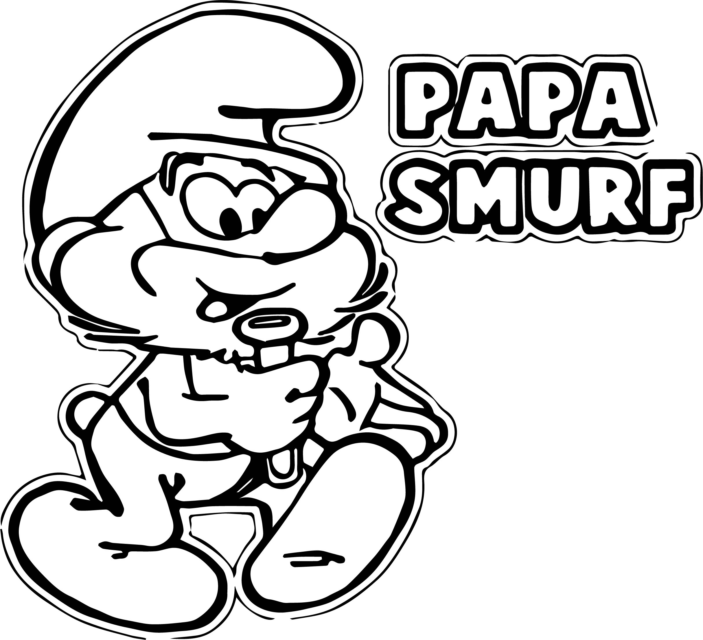 Papa Smurf Coloring Pages | Wecoloringpage.com
