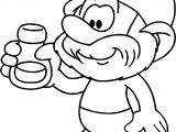 Papa Smurf Essence Coloring Page