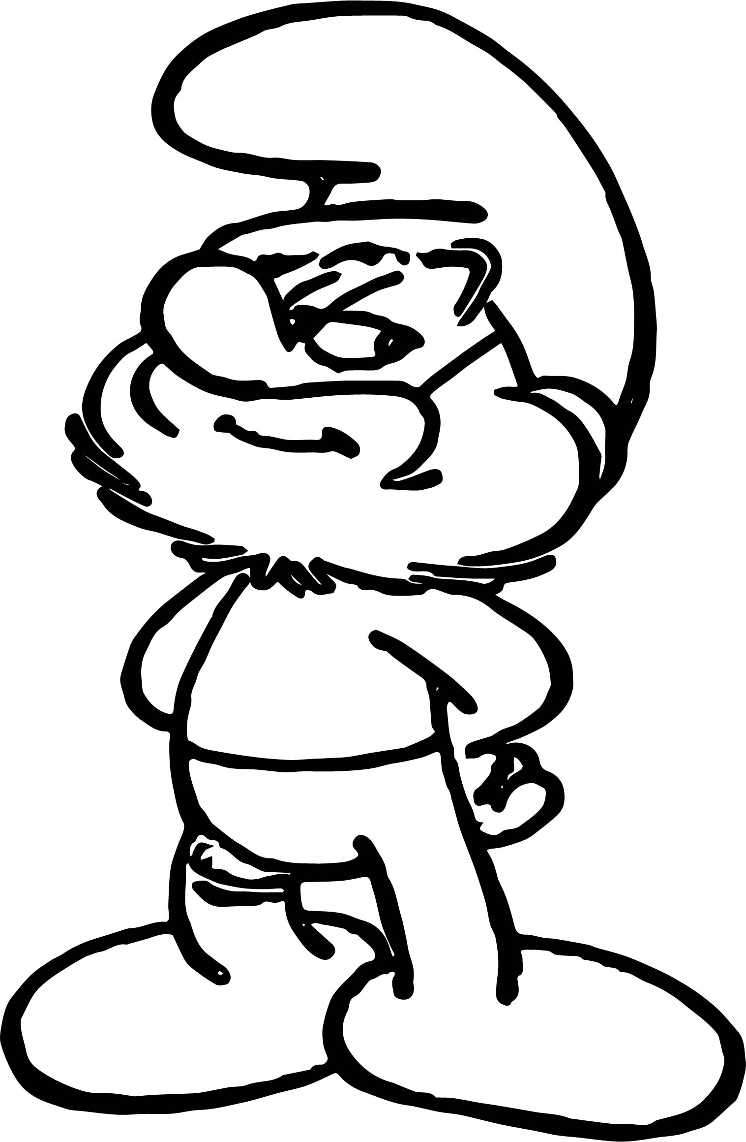 Papa smurf good smurf coloring page for Smurf house coloring pages