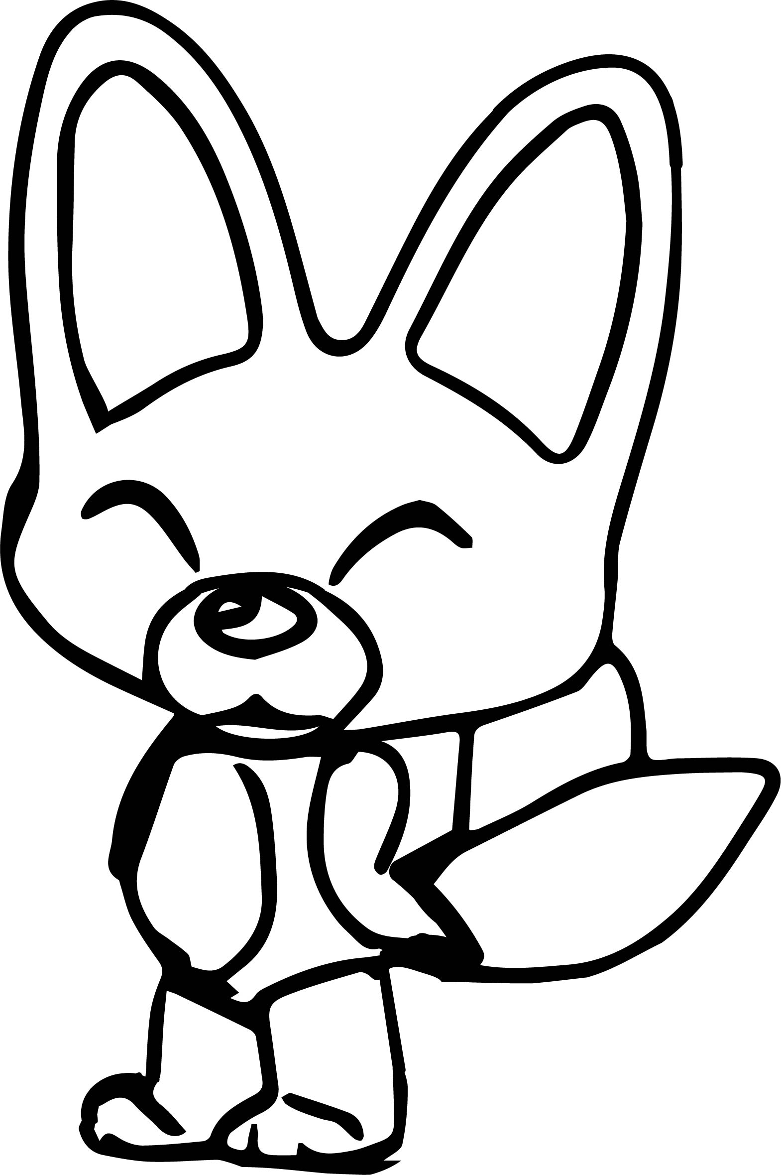 Pororo Character Fox Coloring Page