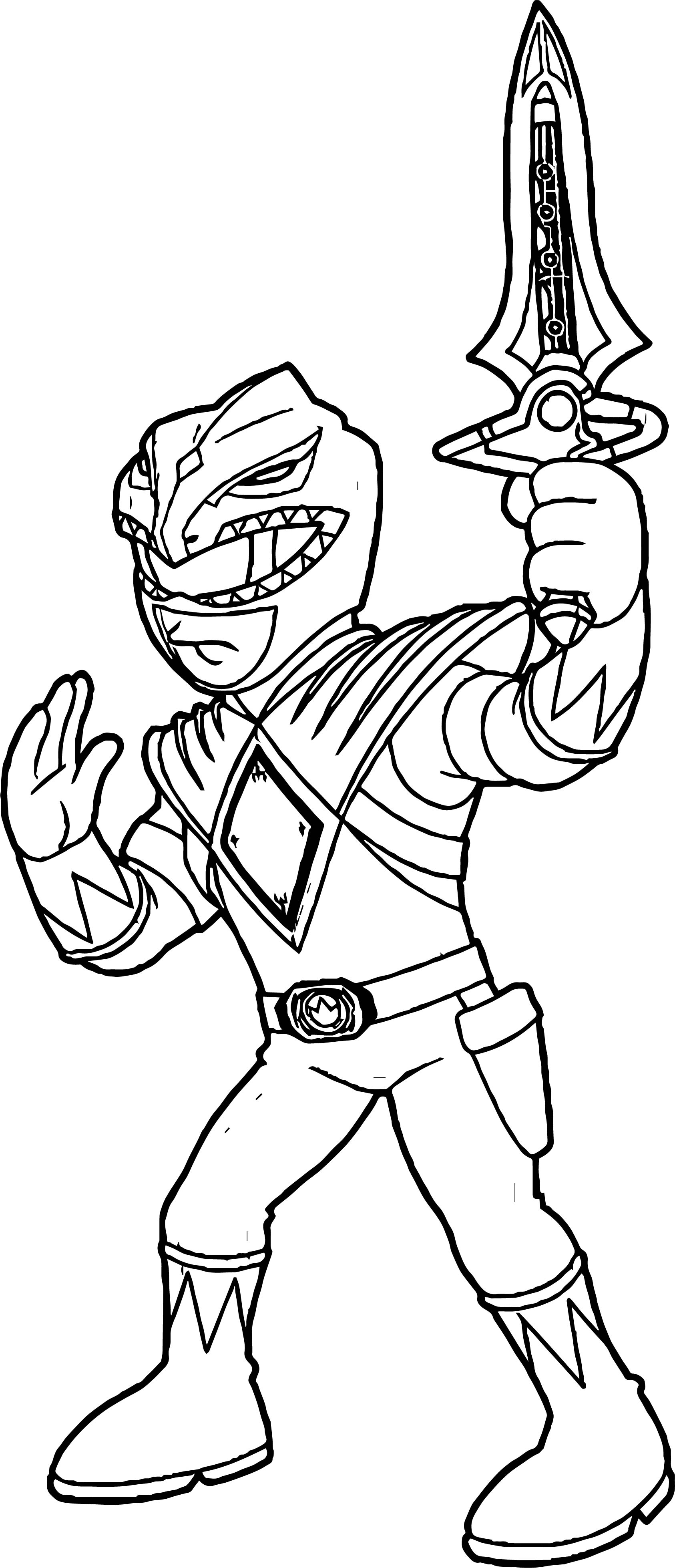 power ranger coloring pages - power rangers green ranger coloring page
