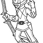 Power Rangers Pink Ranger Coloring Page