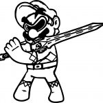 Power Rangers Super Mario Coloring Page