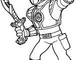 Power Rangers White Ranger Coloring Page