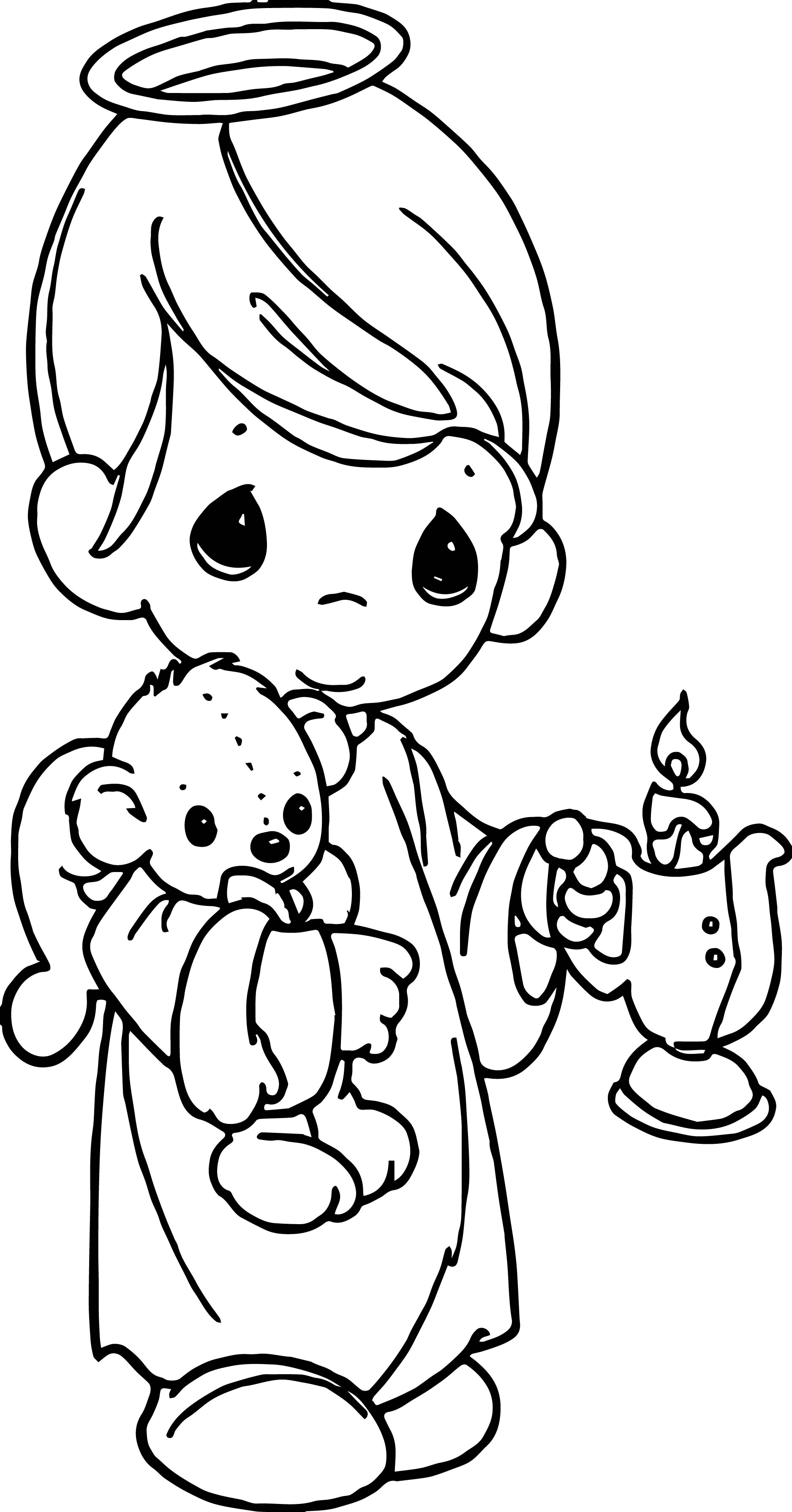 Precious Moments Candle Coloring Page