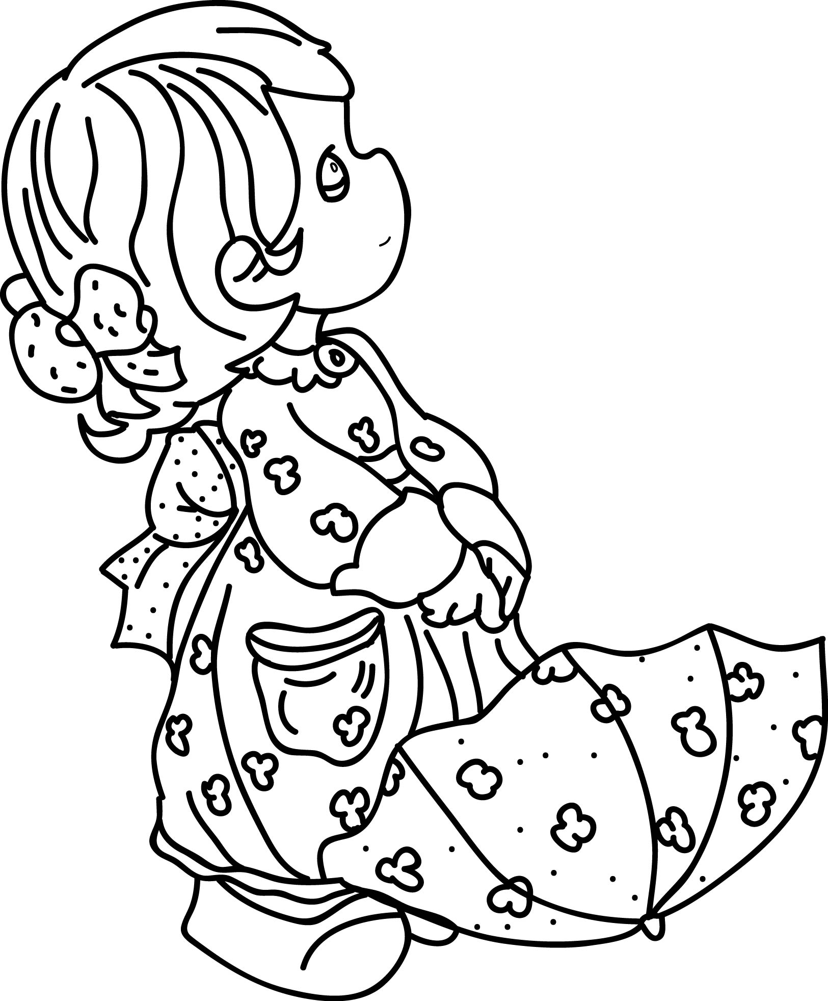 Precious Moments Coloring Page Line Drawing