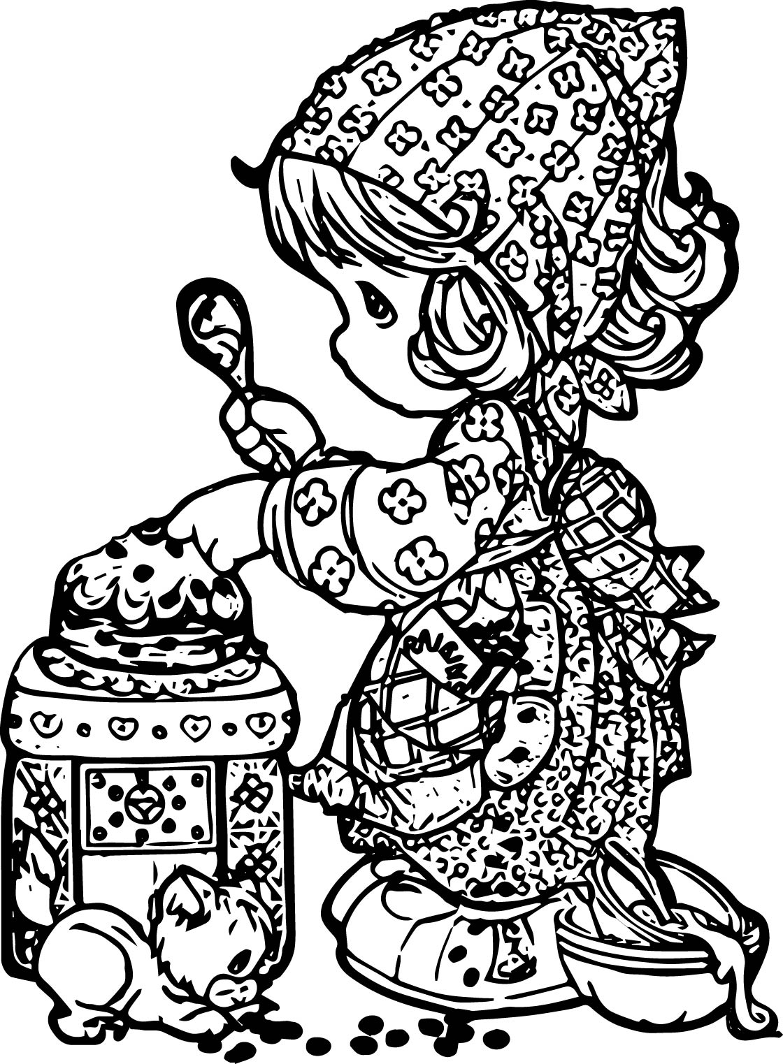 Precious Moments Cook Coloring Page