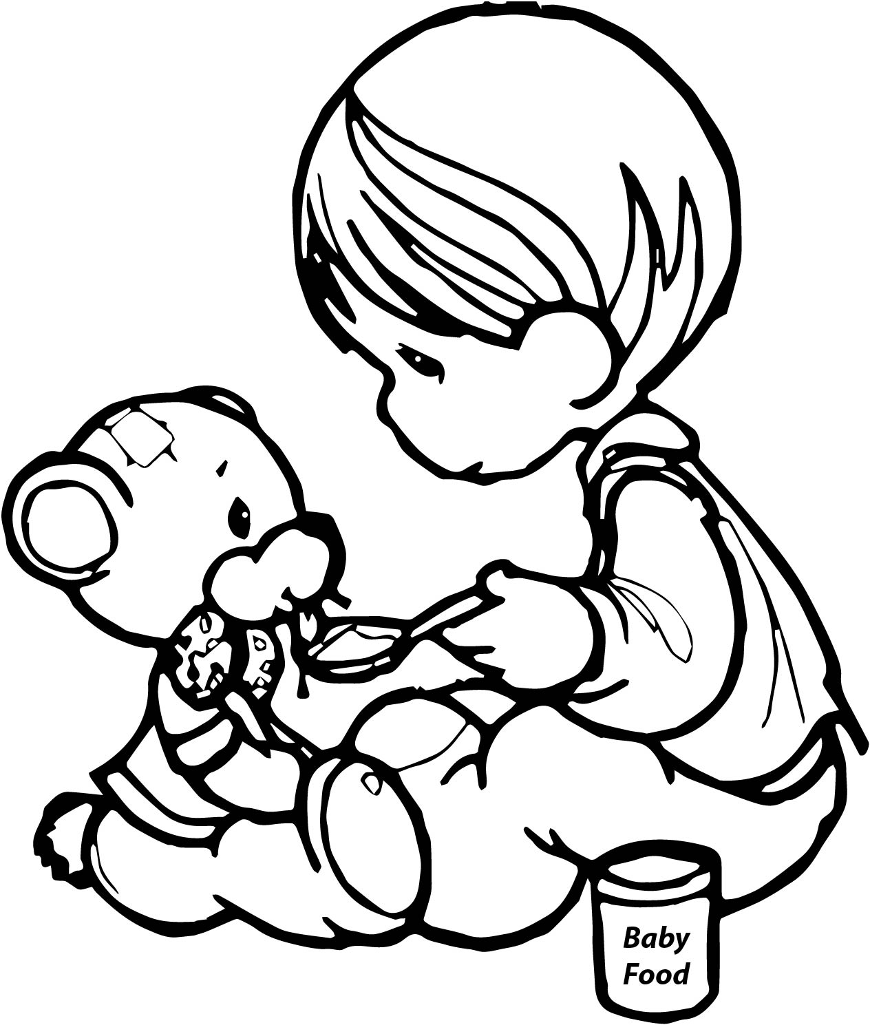 Precious Moments Eat Bear Toy Coloring Page