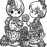 Precious Moments Eat Suckers Coloring Page