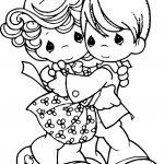 Precious Moments Hug Coloring Page