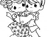 Precious Moments Hug Coloring Page