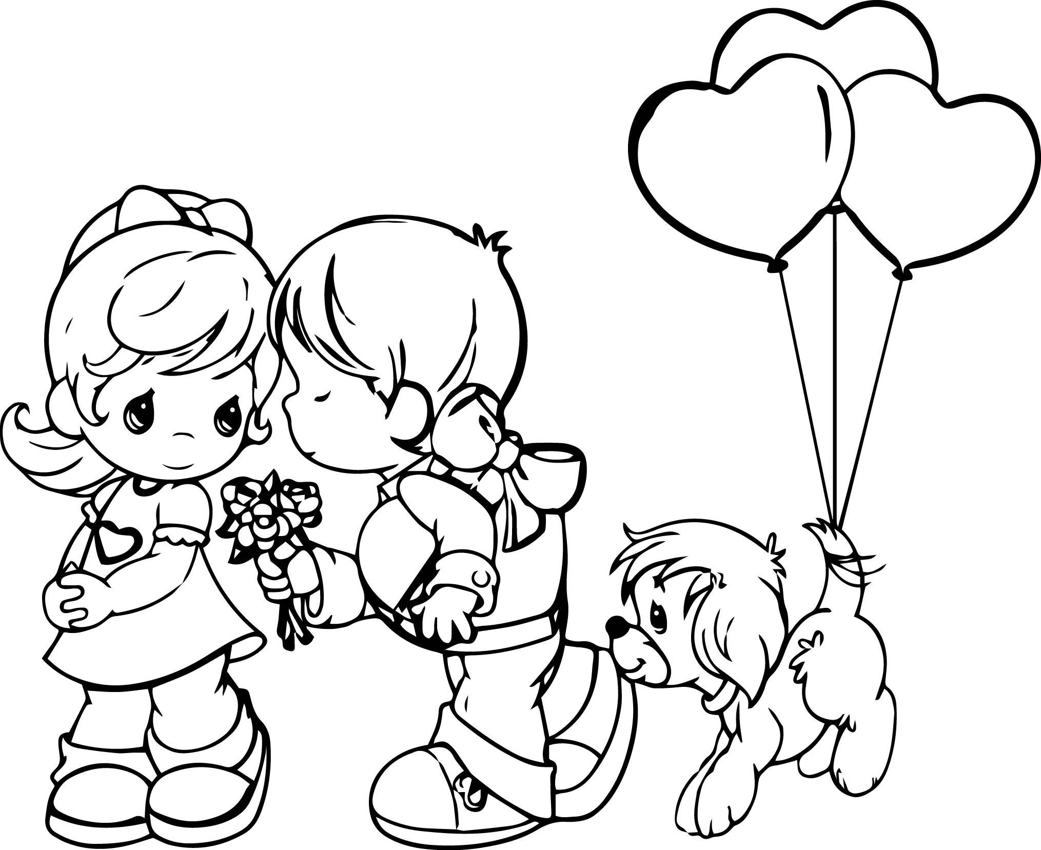 Precious Moments Love Is Coloring Page | Wecoloringpage
