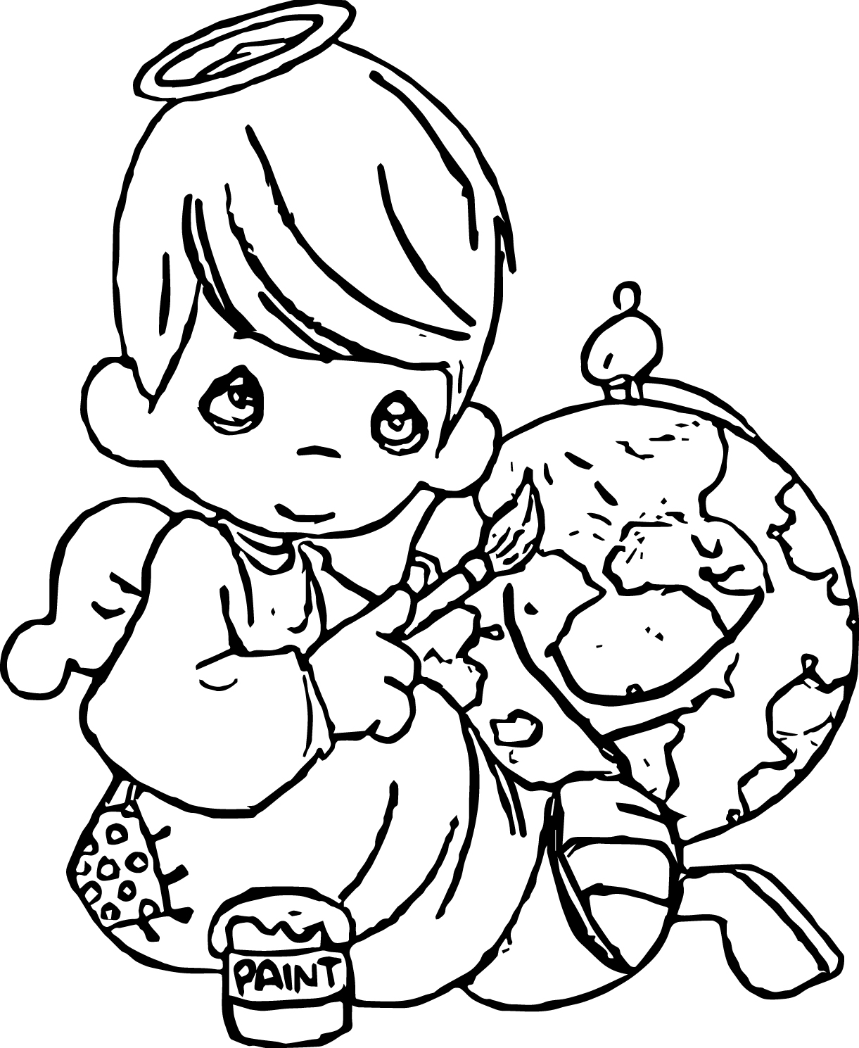 Precious Moments Paint Coloring Page