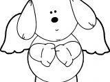 Puppy Angel Dog Puppy Coloring Page
