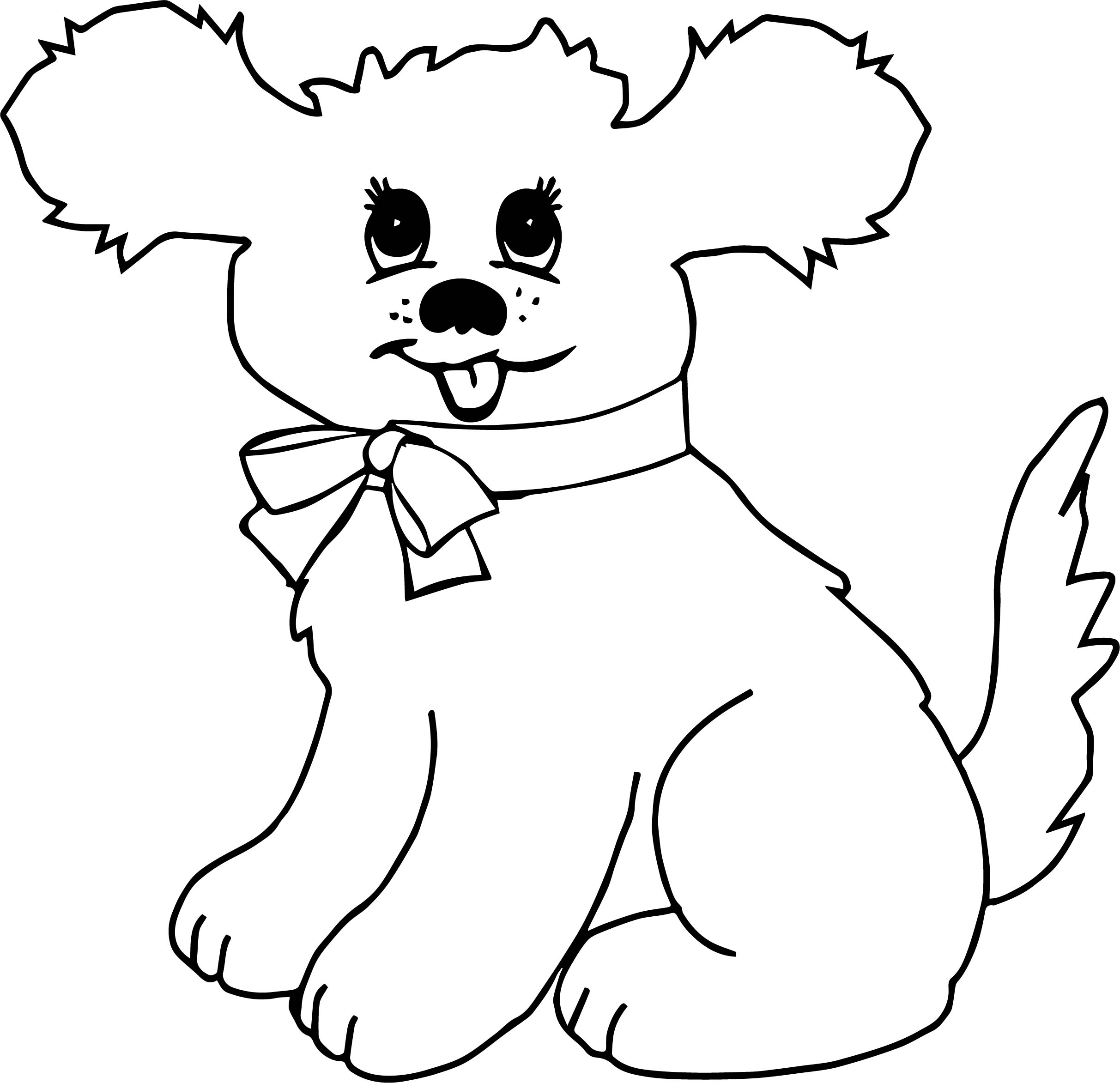 Puppy Dog Cartoon Dog Puppy Coloring Page