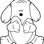 Puppy Hugging Heart Dog Puppy Coloring Page