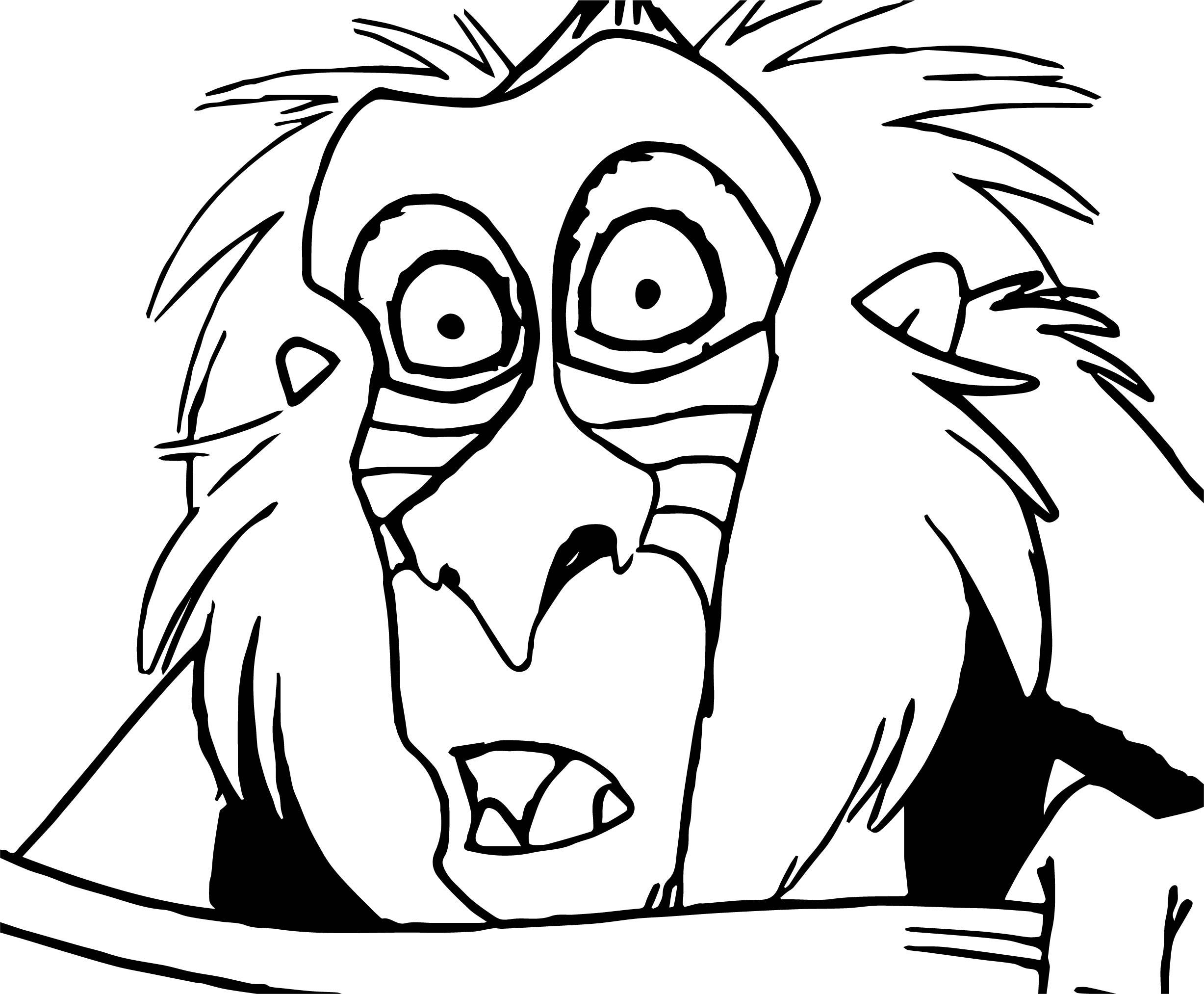Rafiki Baboon Coloring Page