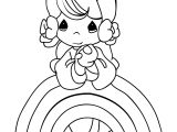 Rainbow Precious Moments Coloring Page