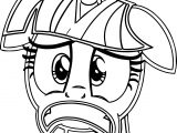 Sad Face Princess Twilight Sparkle Coloring Page