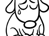 Sad Puppy Cartoon Illustration Of Cute Dog Dog Puppy Coloring Page