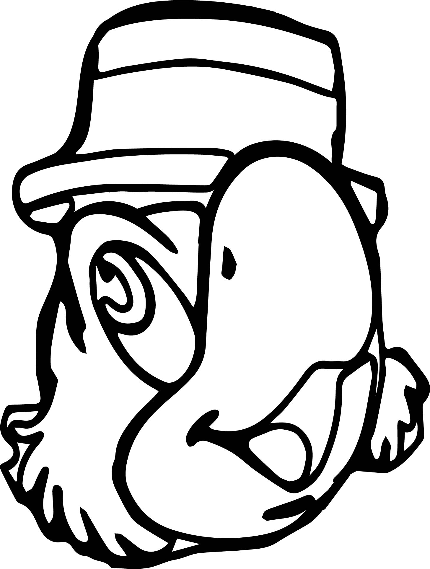 Saludos Amigos Parrot Animal Face Coloring Pages