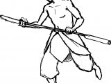 Shirtless Aang River Bird Avatar Aang Coloring Page