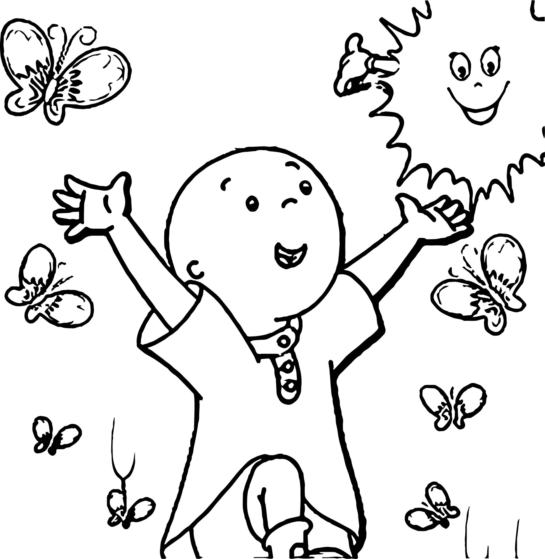 Show Poster Caillou Coloring Page Wecoloringpage Com