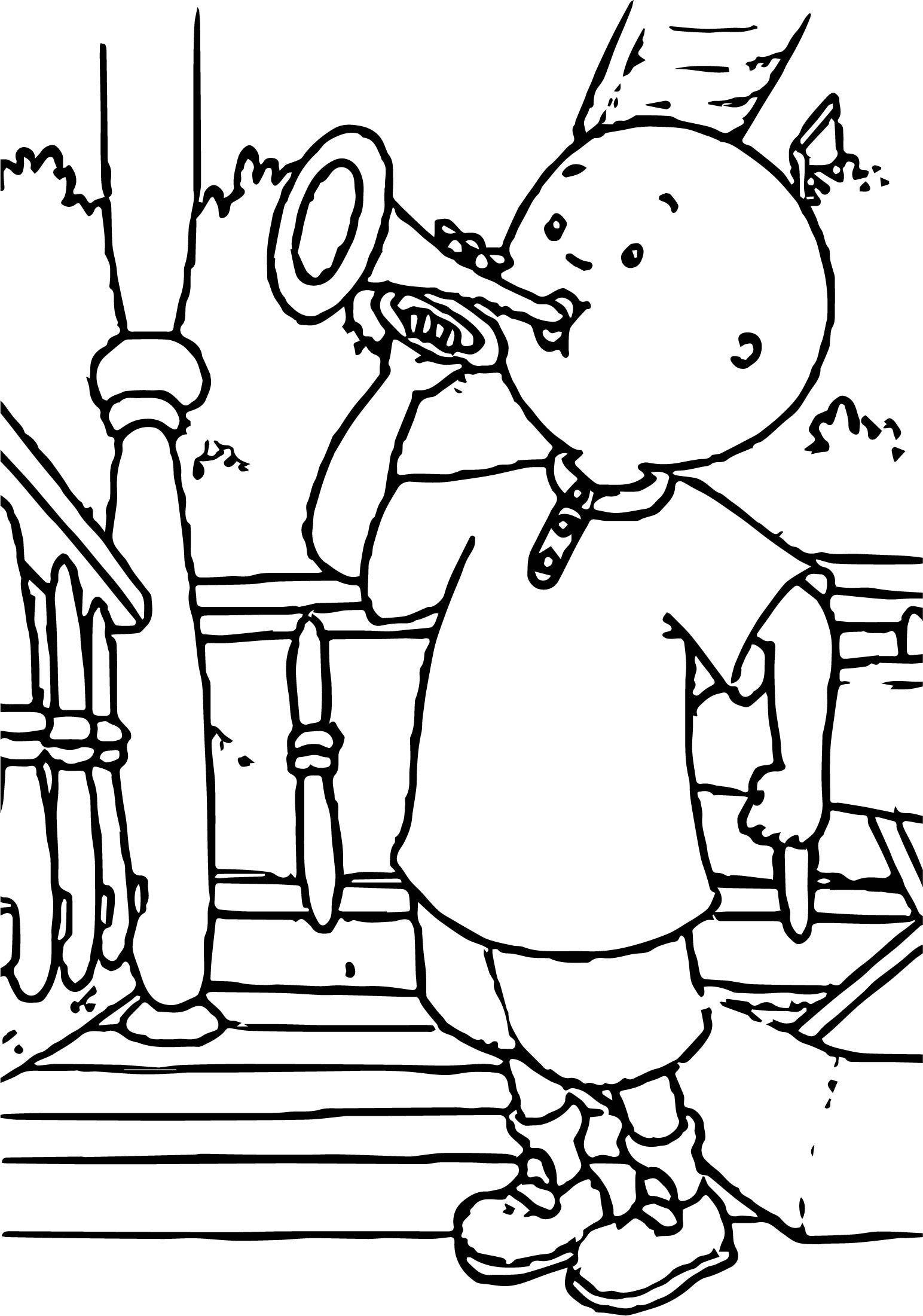 Sing caillou caillou coloring page for Sing movie coloring pages