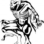 Skeleton Waiting Coloring Page