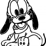 Smile Front View Baby Pluto Coloring Page