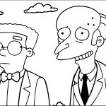 Smithers And Mr Coloring Page