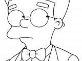 Smithers Simpsons Coloring Page