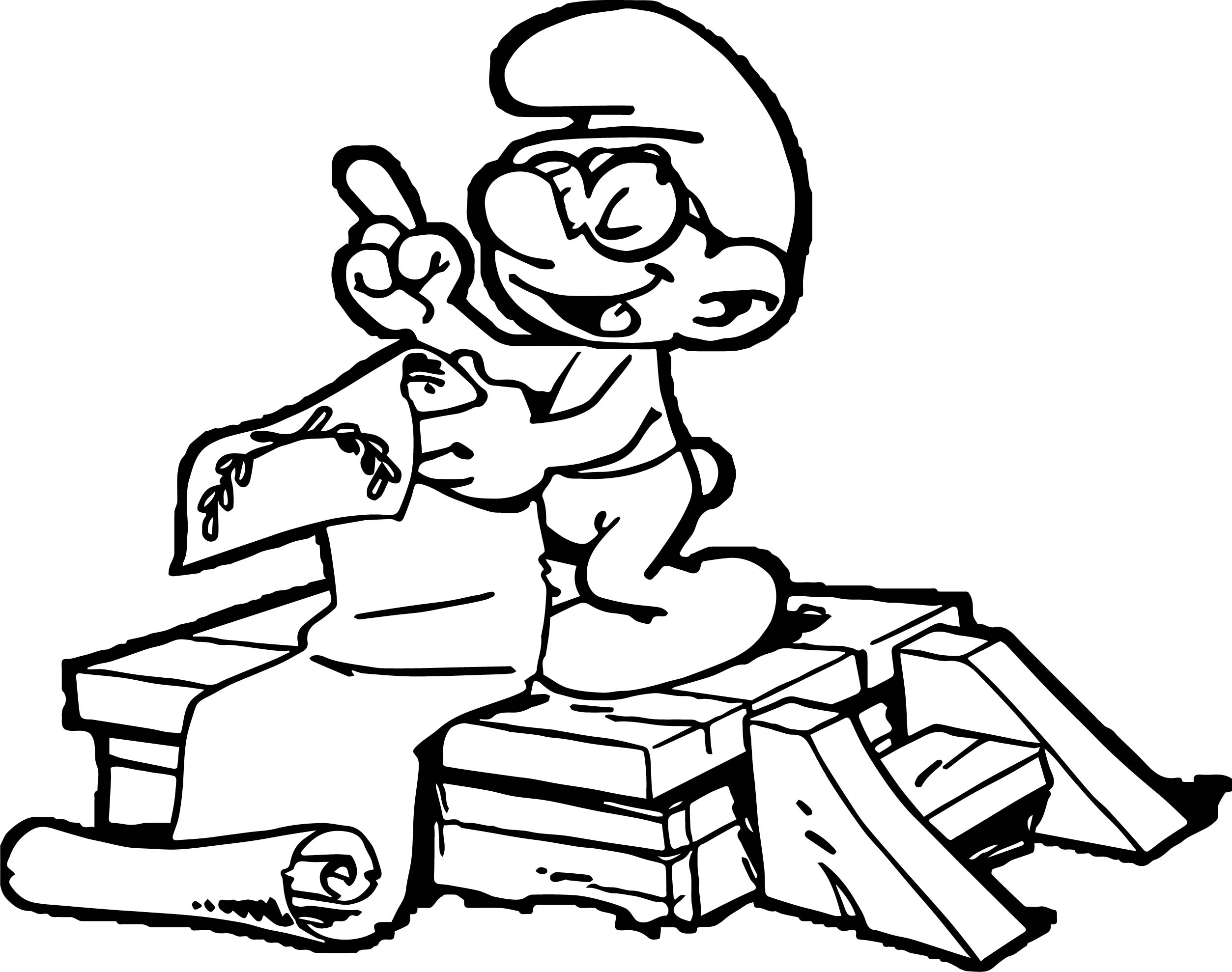 Smurf Brainy Coloring Page