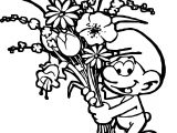 Smurf Flower Coloring Page