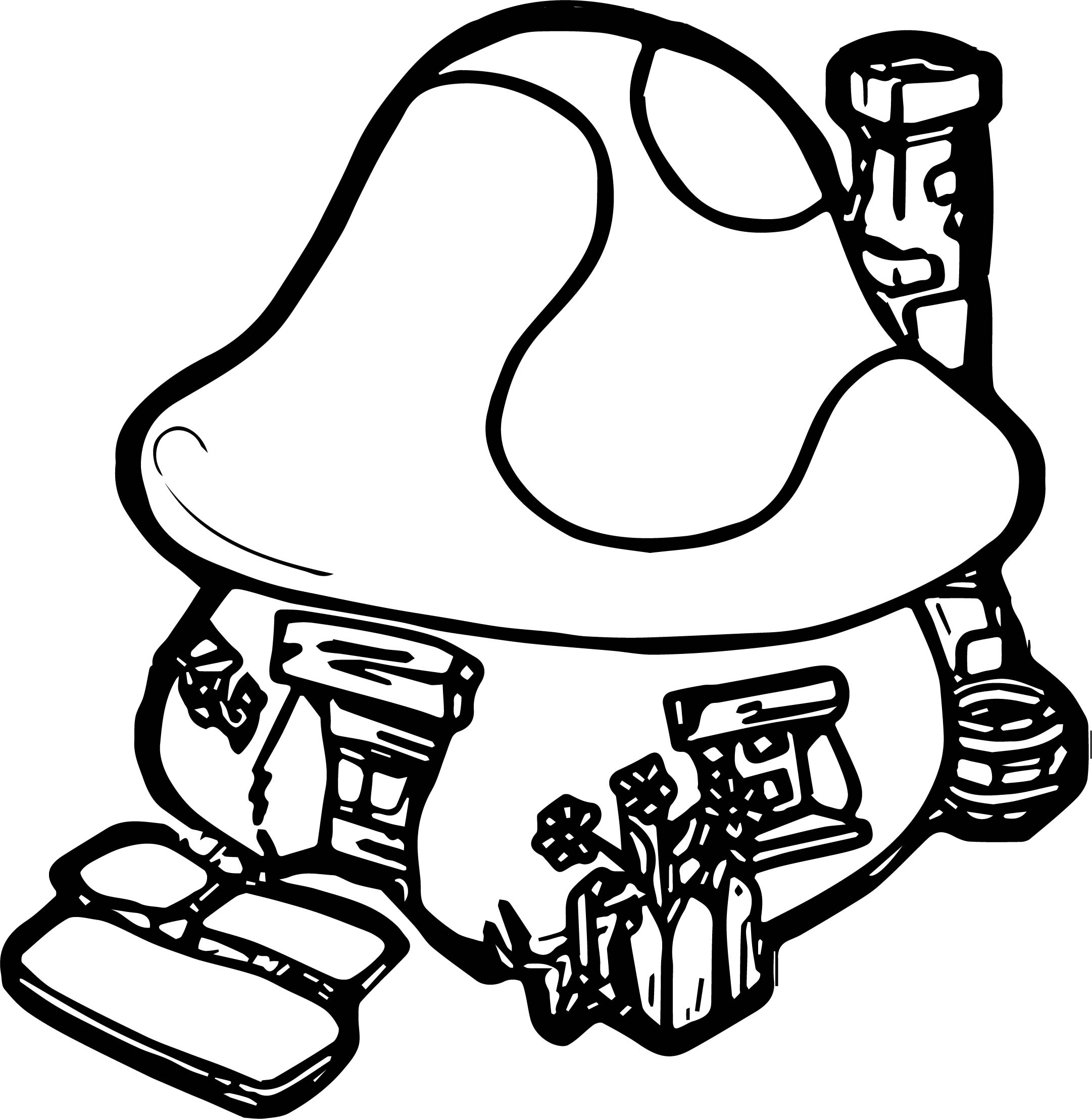 Smurf House Coloring Page