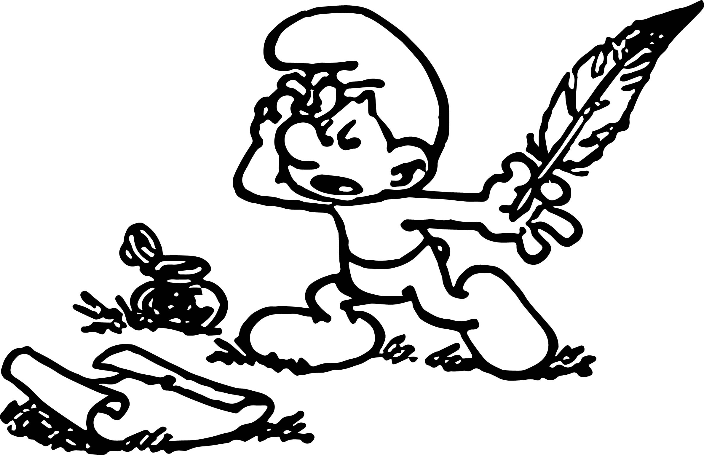 Smurf Poet Smurf Coloring Page