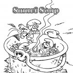 Smurf Soup Smurf Coloring Page