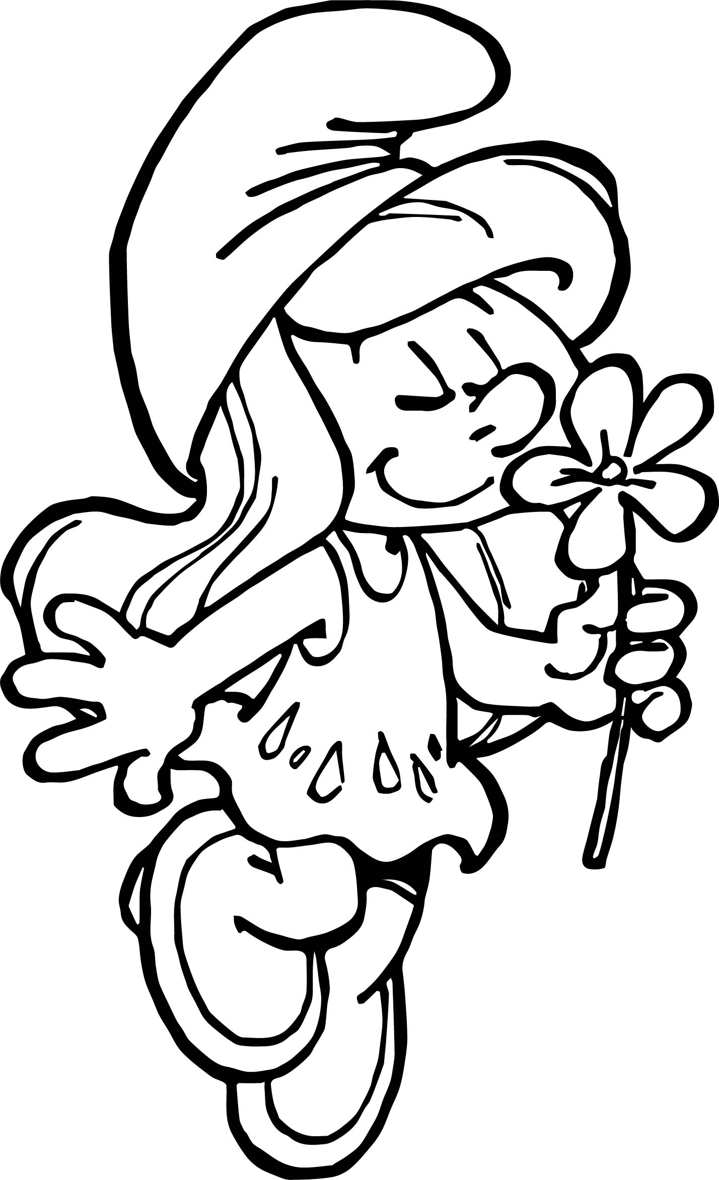 Smurfette Smell Coloring Page