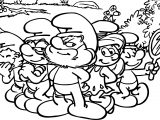 Smurfs Back Smurf Coloring Page