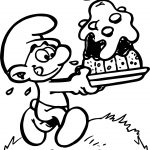 Smurfs Color Pictures Greedy Smurf Coloring Page