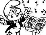 Smurfs Music Papa Smurf Coloring Page