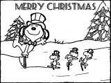 Snoopy And Friends Christmas Coloring Page