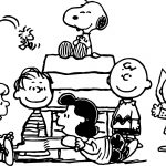 Snoopy And Peanuts Characters Coloring Page