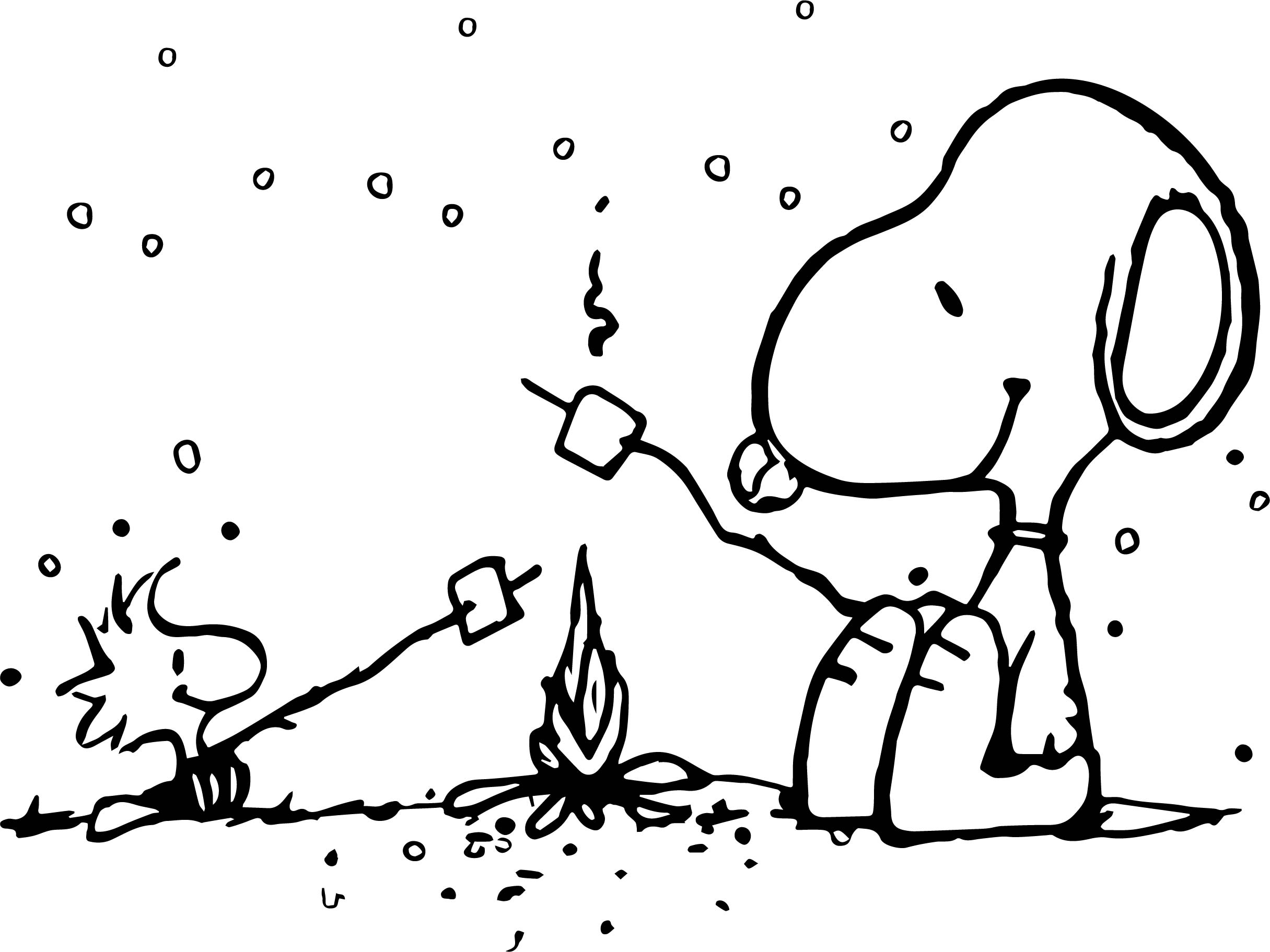 peanuts coloring pages woodstock - photo#40
